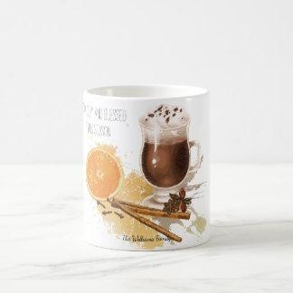 Hot Chocolate Cinnamon Orange Season Greetings Coffee Mug