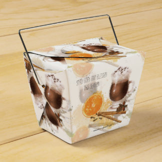 Hot Chocolate Cinnamon Orange Season Greetings Favor Box