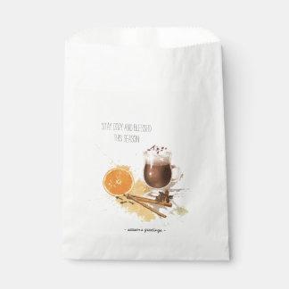 Hot Chocolate Cinnamon Orange Season Greetings Favour Bag