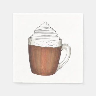 Hot Chocolate Cocoa Christmas Holiday Napkins Paper Napkins