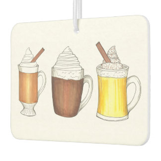 Hot Chocolate Cocoa Toddy Eggnog Winter Drinks Air Freshener