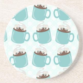 Hot Chocolate Happiness Pattern Coaster