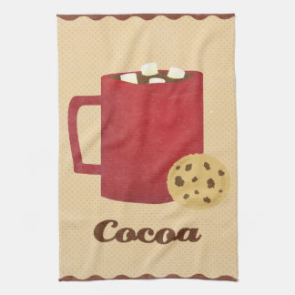 Hot chocolate illustration towels
