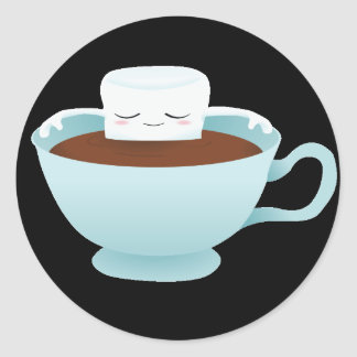 Hot Chocolate Round Sticker