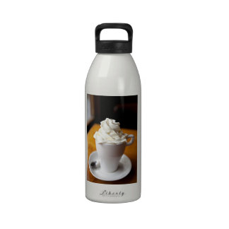 Hot Chocolate with Whipped Cream Drinking Bottles