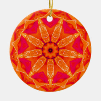 Hot Christmas Fractal Ceramic Ornament
