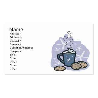 Hot Cocoa And Cookies Business Card