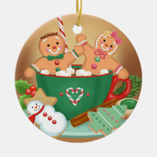 Hot Cocoa and Gingerbread Ornament