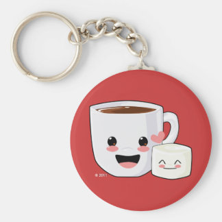 Hot Cocoa and Marshmallow Keychain