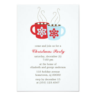 Hot Cocoa Holiday Party Card