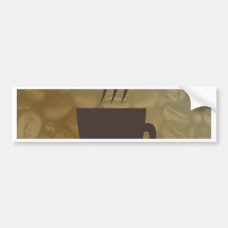 Hot Coffee Background Bumper Sticker