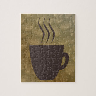 Hot Coffee Background Jigsaw Puzzle