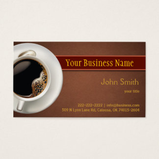 Hot Coffee Business Card