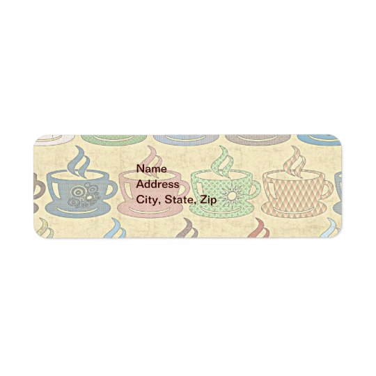 HOT COFFEE OR TEA RETURN ADDRESS LABEL