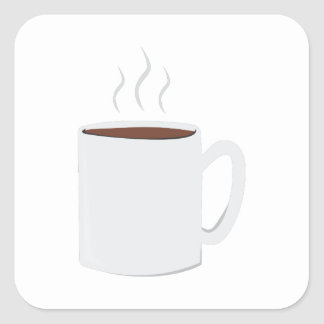 Hot Coffee Square Stickers