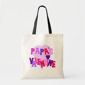 Hot Colors Heart Papa's Valentine Canvas Bag