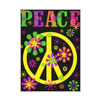 Hot Colours Peace Canvas Print