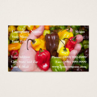 Hot crops business card