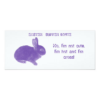 Hot Cross Bunny for Easter Personalized Invitation
