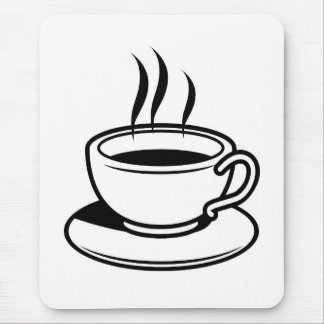 Hot Cup of Coffee Mouse Pad