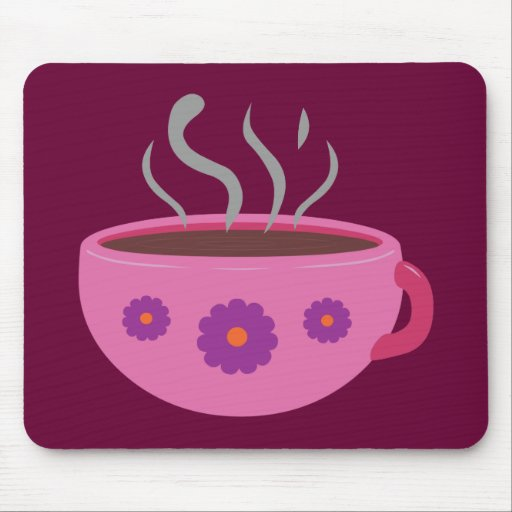 Hot Cup of Coffee Mousepads