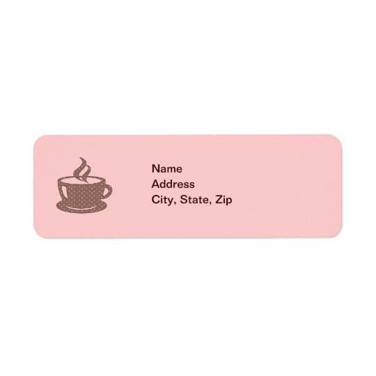 HOT CUP OF COFFEE RETURN ADDRESS LABEL