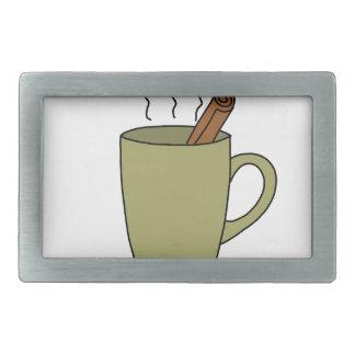 HOT CUP OF TEA RECTANGULAR BELT BUCKLE