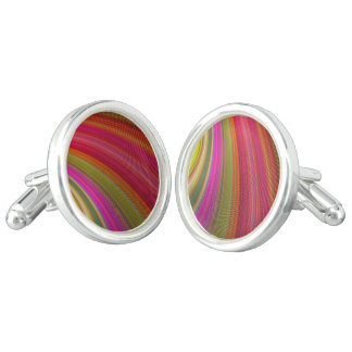 Hot curved stripes cuff links