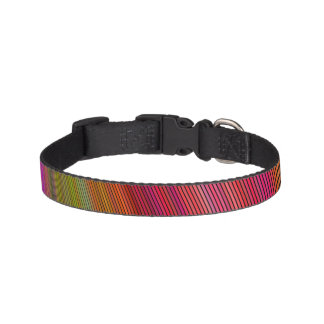 Hot curved stripes dog collar