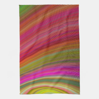 Hot curved stripes hand towels