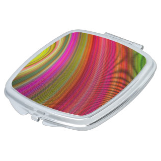 Hot curved stripes mirrors for makeup