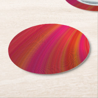 Hot curves round paper coaster