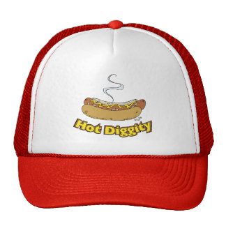 Hot Diggity ~ Hot Dog / Hot Dogs Trucker Hat