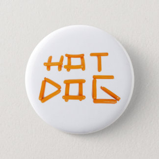 HOT DOG 2 INCH ROUND BUTTON