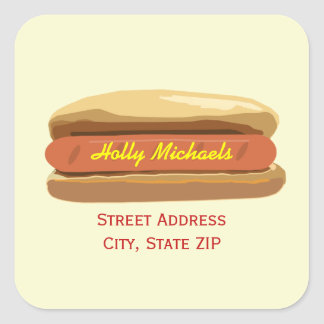 Hot Dog Address Label Sticker