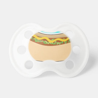 Hot Dog and Relish Baby Pacifier