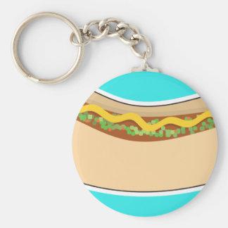 Hot Dog and Relish Keychain