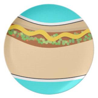 Hot Dog and Relish Plate