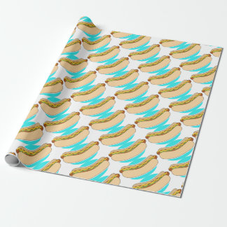 Hot Dog and Relish Wrapping Paper