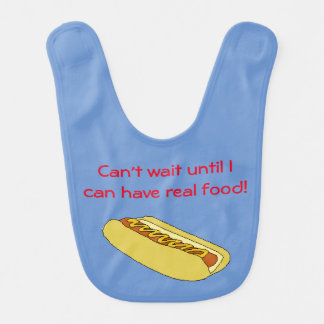 Hot Dog Baby Bib