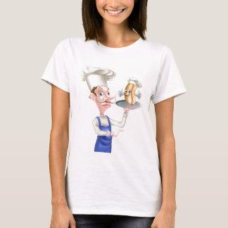 Hot Dog Cartoon Chef Pointing T-Shirt