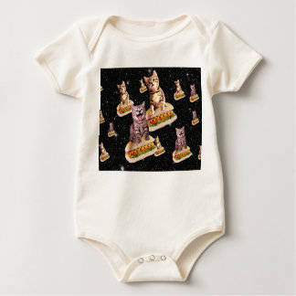 hot dog cat invasion baby bodysuit