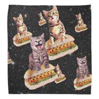 hot dog cat invasion bandana