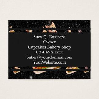 hot dog cat invasion business card