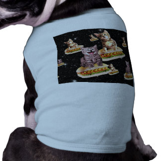 hot dog cat invasion doggie shirt