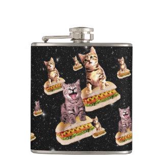 hot dog cat invasion flasks