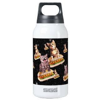 hot dog cat invasion insulated water bottle