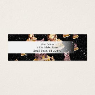 hot dog cat invasion mini business card