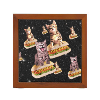 hot dog cat invasion Pencil/Pen holder