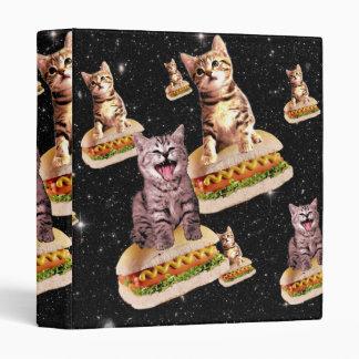 hot dog cat invasion vinyl binder
